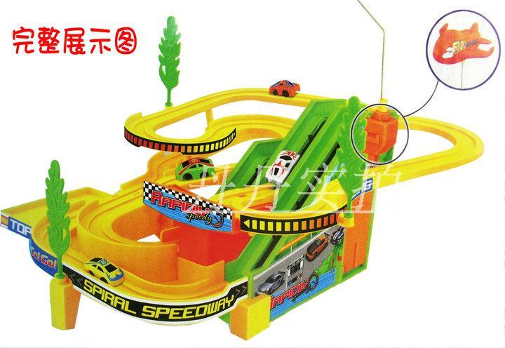 speedo rail car child electric toy tracks car it is music toy electric rail car rotating toy slot toys(China (Mainland))