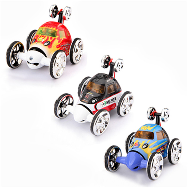 Top Quality Resistant Mini Led RC 360 Wheelie Remote Radio Control Twister Rechargeable Stunt Car Toy(China (Mainland))