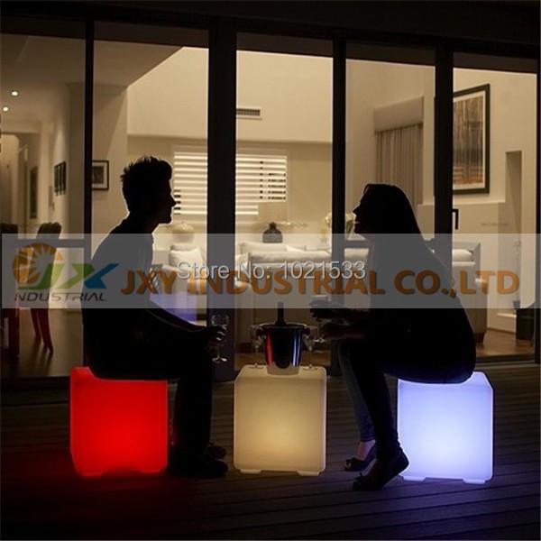 Hot sale 40x40x40cm led cube Illuminated led furniture bar chairs free shipping(China (Mainland))