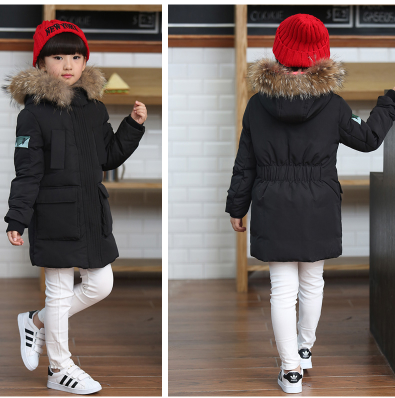 5-12 year Childrens winter Slim down jacket girls of boy long sections thick Down jacket kids duck down jacket outwear coat<br><br>Aliexpress