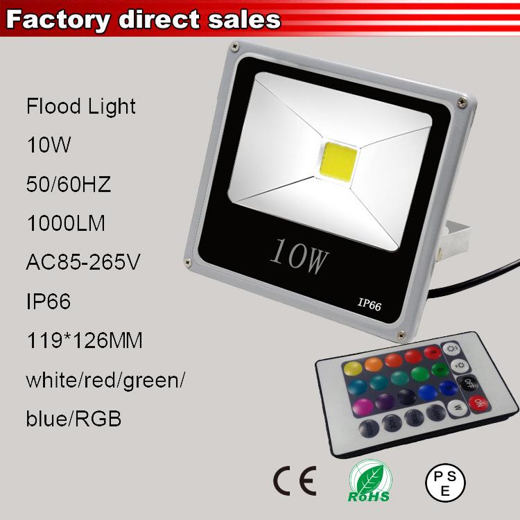 10w rgb led flood light 110v 220v lamp reflector led for Fixture exterieur led
