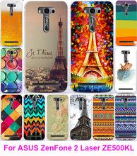 Хорошо продается печать эйфелева башня серия живопись телефон чехол для Asus Zenfone 2 лазерная ZE500KL ZE500KG ( 5.0 дюймов ) Sehll