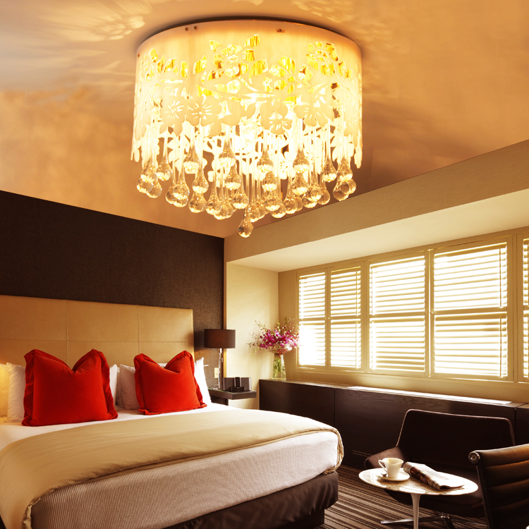 Fashion crystal ceiling light living room lights bedroom for Living room ceiling lights