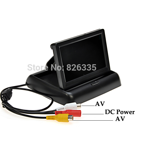Folding 4 3 inch TFT Color LCD Screen Parking Sensor Video Monitor Car for TV Rearview