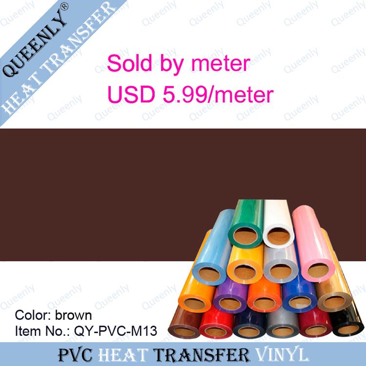PVC heat transfer vinyl PVC Heat Transfer Film for T-shirt sold by meter 5 meters/pack width 50cm(China (Mainland))