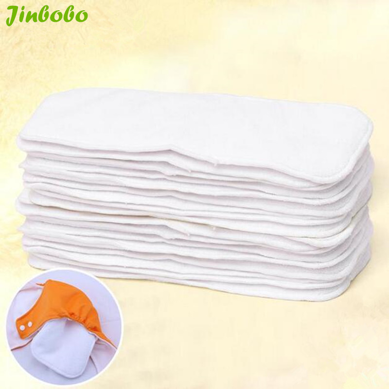 10pcs/lot Baby soft Cotton Mircrofiber Bamboo Cloth Diaper Insert baby Nappy bags TWO Layer Reuse diapers Washable Diaper Liners(China (Mainland))