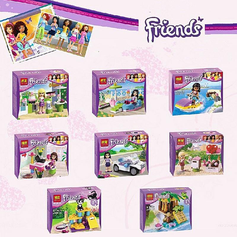 Girl's Friends Figures Emma/Mia Cat Play Pet House Building Blocks Minifigures Model Bricks Toys Lego Compatible(China (Mainland))