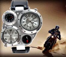 Au lait oulm reloj de cuarzo mens moda del reloj ocasional comercial para hombre corriente de marea q050