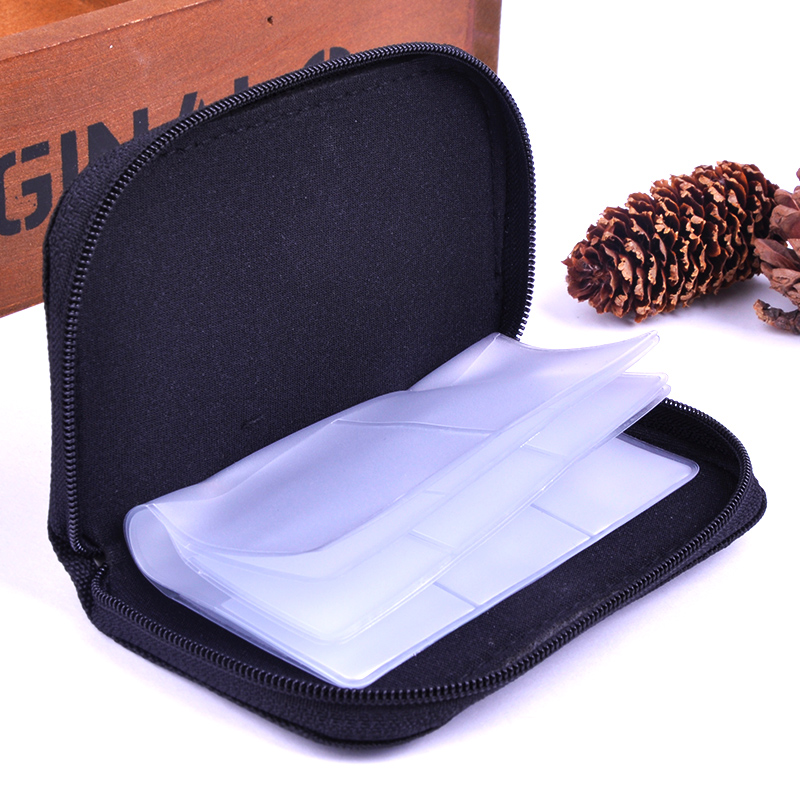 New Portable semi-transparent frosted Card Holder Carrying Case Bag for SDHC and SD Cards Best Deal Free Shipping 1pcs *Q(China (Mainland))