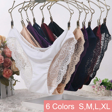 Women Lace Sexy Briefs,Ultra-Thin Transparent Flower Embroidered Patterned,Plus Size Underwear Seamless Panties 6Colors S/M/L/XL(China (Mainland))
