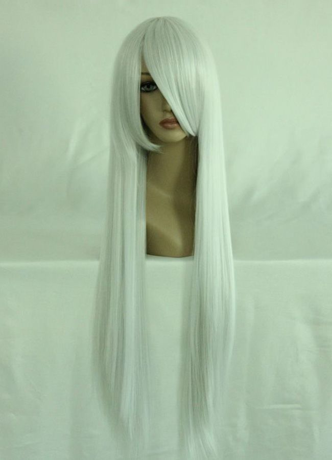 80cm Long Final Fantasy-Sephiroth Silvery White Cosplay Costume Wig