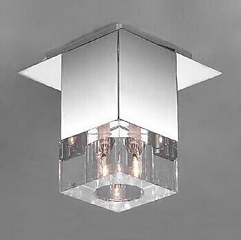 1 light flush mount modern led k9 crystal ceiling lights for Flush mounted lights for bedroom