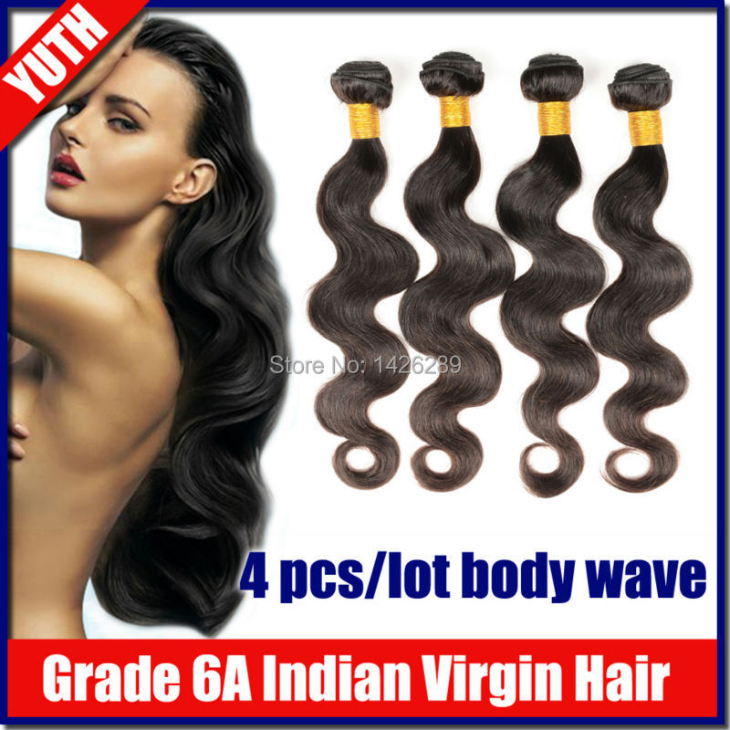 4pcs/lot Mixed Length Body Wave Indian Virgin Hair Grade6A Natural Black Human Hair Quality Test 2014 New Arrival<br><br>Aliexpress