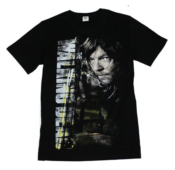 The fifth season The Walking Dead T-shirt DARYL Cosplay Costume Printing T Shirt Casual Men Cotton Tshirt Tees  HTB1UXFRHFXXXXatXXXXq6xXFXXXT
