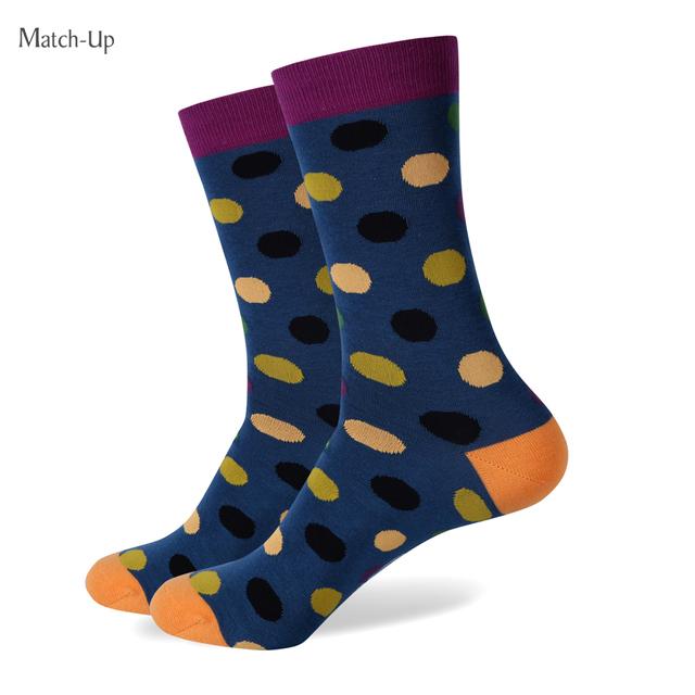Новый стиль красочный точка мужская гребнечесанию хлопковые носки бренд мужчина платье ...