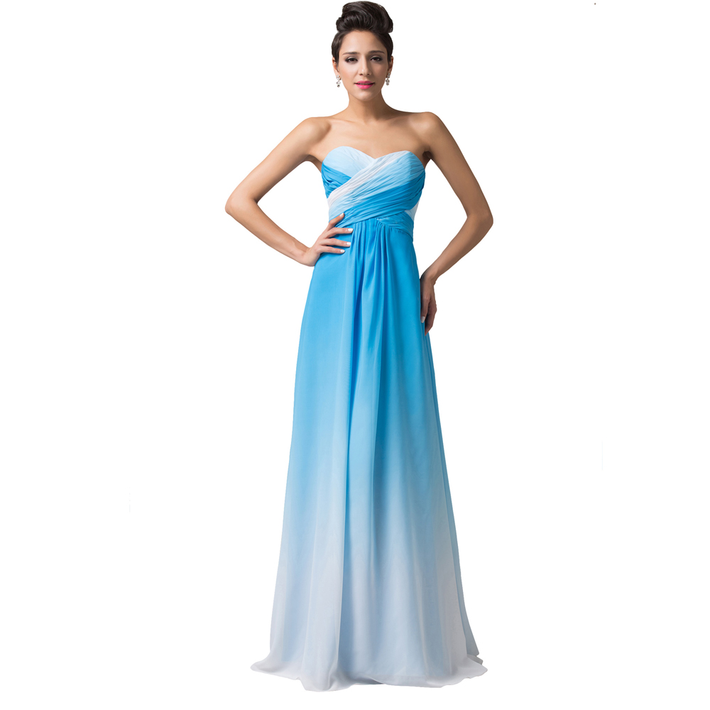Grace karin dresses blue rose chiffon cheap bridesmaid for Cheap wedding dress under 50