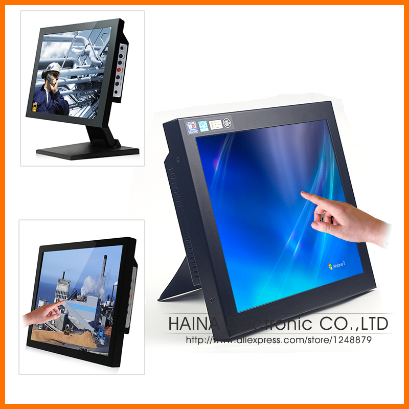 17 inch Touch Screen Monitor, Desktop Computer monitors, LCD Monitor Touchscreen for POS Terminal(China (Mainland))