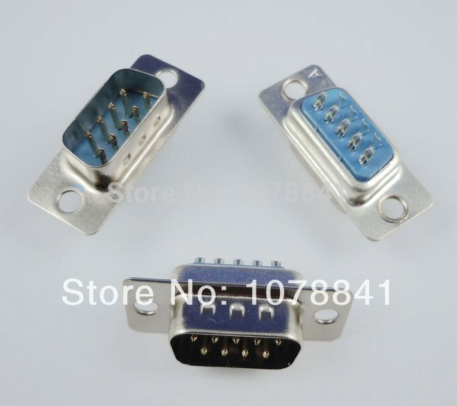 50 Pcs Per Lot D-SUB 9 Pin Male Solder Type Plug Adapter Connector 2 Rows DB9M<br><br>Aliexpress