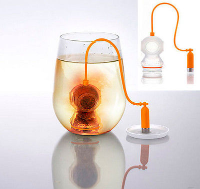 Silicone Diver Tea Infuser Strainer Filter Herb Steeper High Quality Tea Infuser Container(China (Mainland))