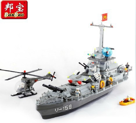 building block set compatible lego new city military Battleship 3D Construction Brick Educational Hobbies Toys Kids