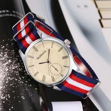 Nylon de lujo de la correa ocasional del reloj personalizado de Nylon ocasional de la correa de reloj simple 2-pin reloj de cuarzo suizo relojes pareja relojes