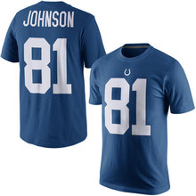 Men's Pat Andrew McAfee Peyton Luck Andre TY Johnson Hilton Manning Customs Name And Number T-Shirts!(China (Mainland))