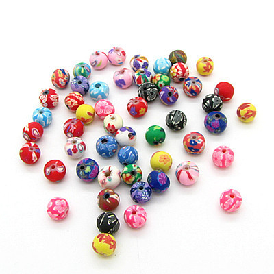 200pcs/lot Assorted Colors Polymer Clay Bead 6mm Ball Round Fimo Diy Jewelry Components Spacer Beads Jewellery Making Materials(China (Mainland))