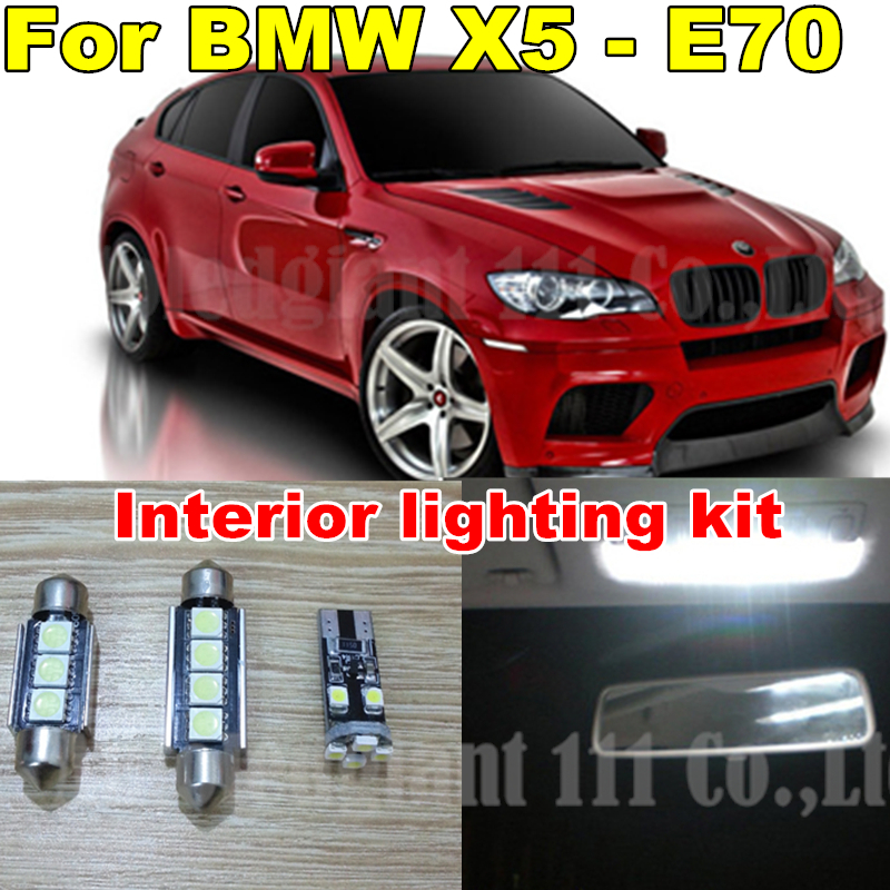 20x Cool White Led Canbus Interior Dome Mirrors Puddle Bulb Trunk LED BMW X5 E70 light kit Package 2007 - 2013 WLJH Carparts Store store