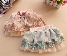 Retail summer New Baby girls skirt Chinoiserie skirt Girls chiffon Baby cake skirt(China (Mainland))