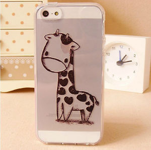 Details about Soft TPU Rubber Giraffe Print Clear Transparent Case Cover Skin For iPhone 5 5S(China (Mainland))