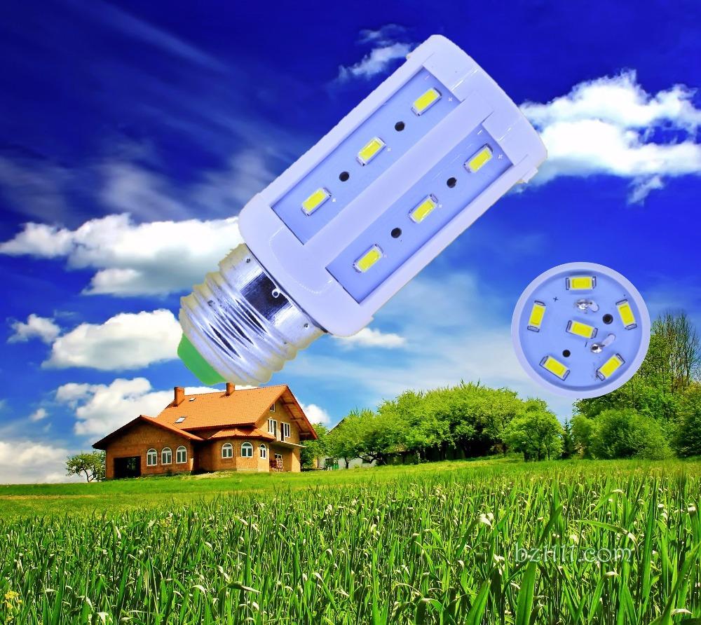5pcs/lot 5630 24leds E27 E14 E26 B22 B15 110V/220V/AC 5w 600lm corn bulb LED Corn light led bulb lamp LAMP CE&RoHS certificated