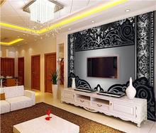 3D фото комната обои/пользовательские фото HD нетканые фрески/черный узор стиль фоне стены/росписи/ТВ/диван/Спальня/КТВ/бар/Отель