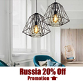 Creative diamond Ceiling Lights Black Iron industrial lamp vintage Loft retro style E27 Base bar foyer