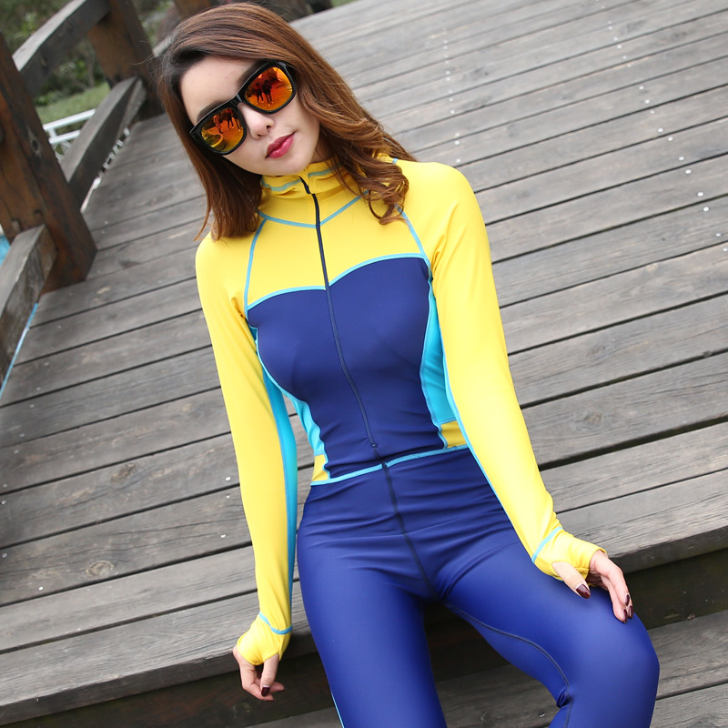 SBART New Style Korean Wetsuit Women Outdoor Sports Surfing Wetsuits One Piece Swimming Snorkeling  Long Sleeve Diving Wet Suit<br><br>Aliexpress