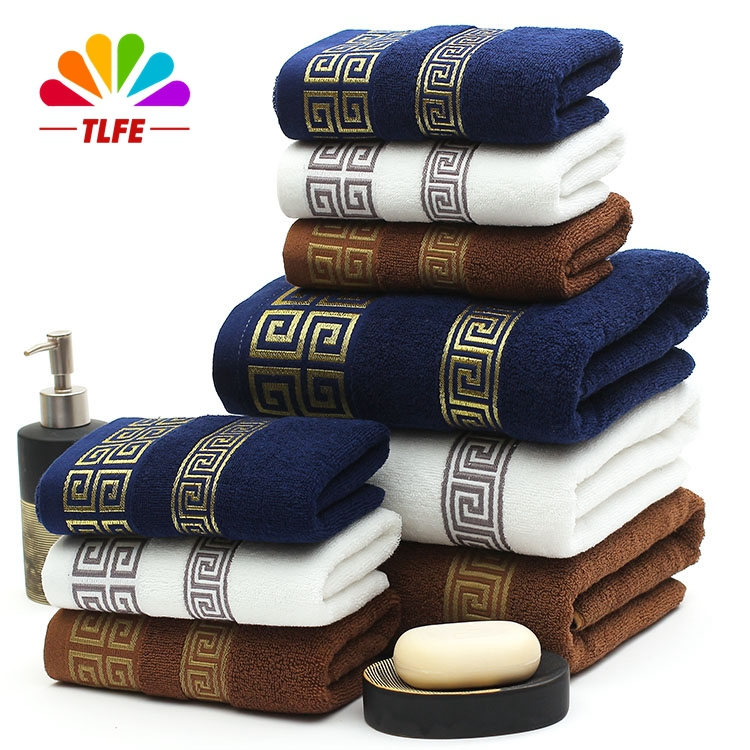 TLFE 100% Cotton Beach Bath Face Hand Brand Towels Set for Adults Home Textile 3PCS Gift Towels for Bathroom Use toallas FST20(China (Mainland))