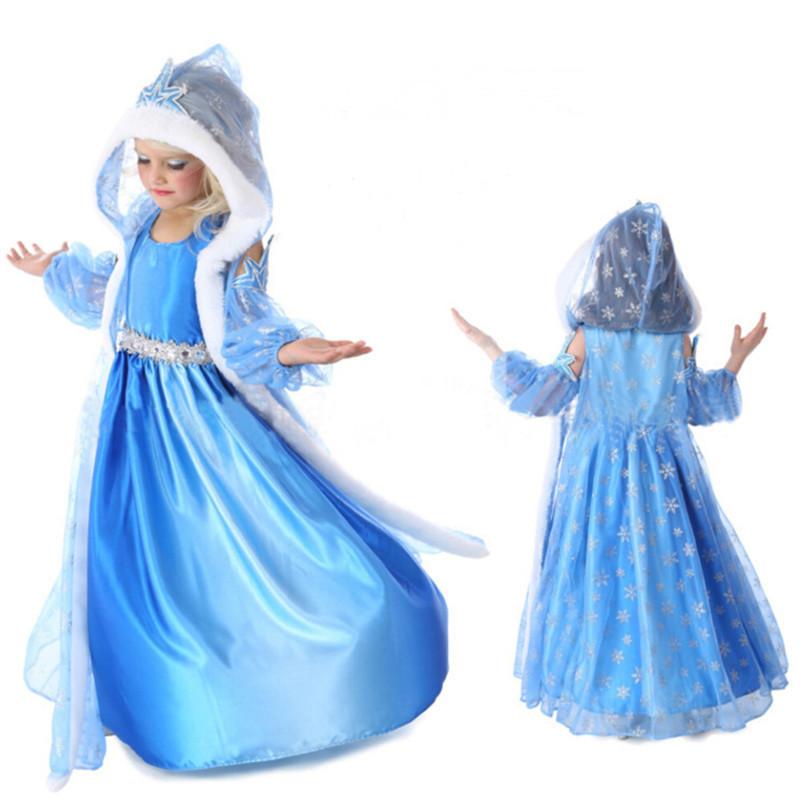 2015 novelty tutu Vestidos Cosplay Costumes Queen Elsa Snowman Halloween princess Christmas party dresses free shipping(China (Mainland))