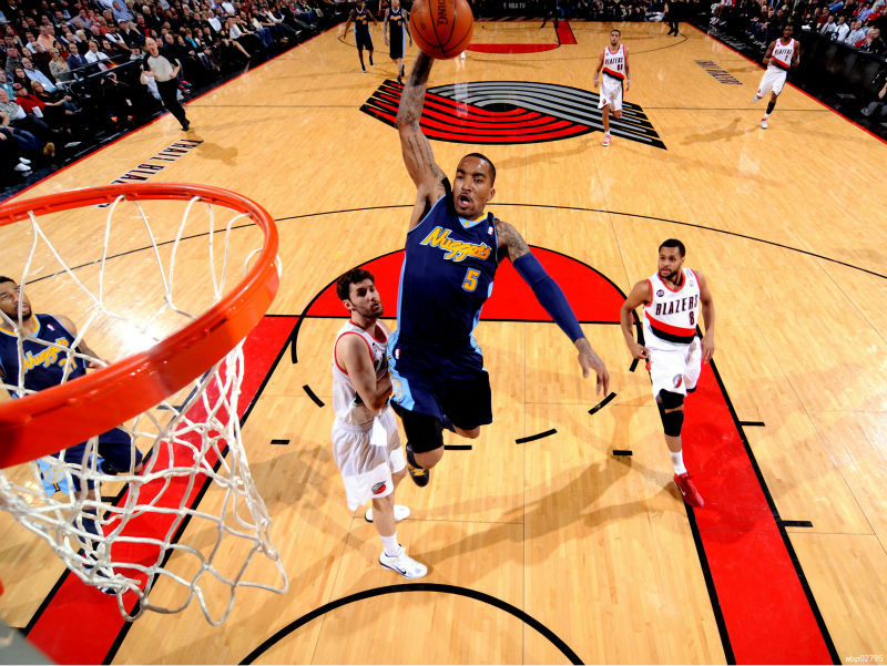 J. R. Smith Dunk Denver Nuggets Art Huge Print Poster TXHOME D5241(China (Mainland))