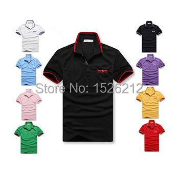 2015 Fashion Famous Brand T-shirts Men Cotton Mens T Shirt Summer Shorts Turn-down Sport Fitness Camisetas Masculinas - Sports Series duty-free shops store