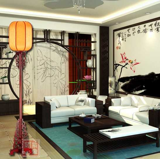 The new high-end Chinese antique floor lamp Classic Wooden sheepskin lamps study lamp lighting living room dining(China (Mainland))