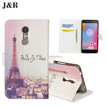 Buy Fashion Painting Luxury Wallet Flip PU Leather Case Lenovo K6 Note 5.5'' Phone Back Cover Lenovo K6 Note bags J&R Brand for $3.97 in AliExpress store