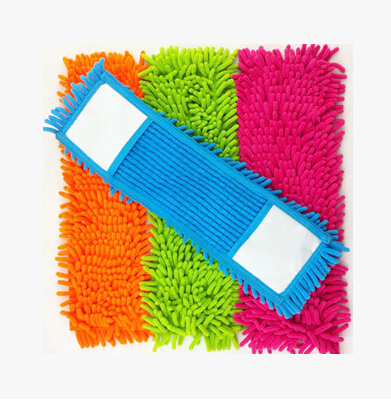 Free Shipping Replacement Floor Microfiber Chenille Cleaning Mop Head 4 colour floor cleaning Rectangle Mop Heads(China (Mainland))
