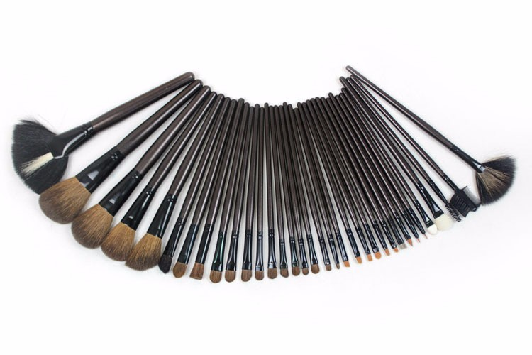 32pcs/bag profesional cosmetic brush beauty tools cleaner kit blending oval set powder trucco eyeshadow kabuki sgm naked sets