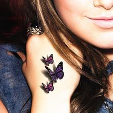 Amazing Butterfly 3d Temporary Tattoo Body Art Flash Tattoo Stickers 19*9cm Waterproof Henna Tatoo Selfie Fake Tattoo Sticker(China (Mainland))