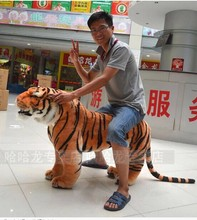 Artificial animal 110x70cm simulation tiger plush toy creative birthday gift , party docreation d8032