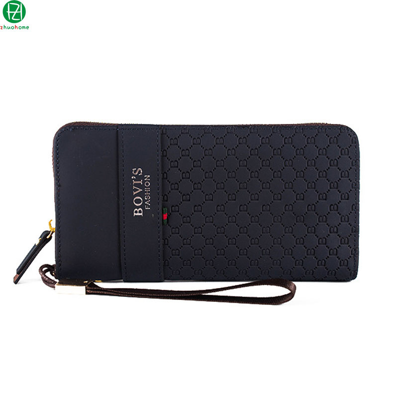 men wallets brand high quality pu leather men clutch casual business men purse vintage long money bag men handbag 3 style(China (Mainland))