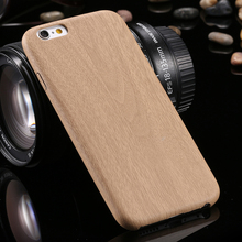 Luxury Wooden Pattern TPU Cover For Apple iPhone 6 Case Wood Grain Soft Back Shell Phone Cases For iphone6 6S 6Plus 6S Plus 5 5S