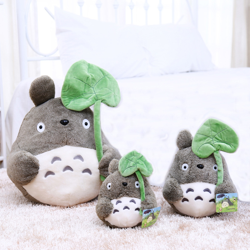Cute Cartoon Plush doll Totoro Stuffed Animal Soft neighbor totoro plush toy soft totoro with lotus leaf kids toys Cat(China (Mainland))