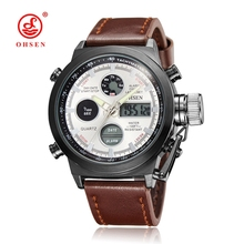 OHSEN Brand Dive LED Watches Men Military Sport Watch Quartz Silicone Watches Men Wristwatch Relogio Masculino Relojes Mujer(China (Mainland))