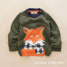 2016 new arrival autumn spring style babys boy sweaters long sleeve faswhion Sweater cartoon fox knitted cute baby boy clothing