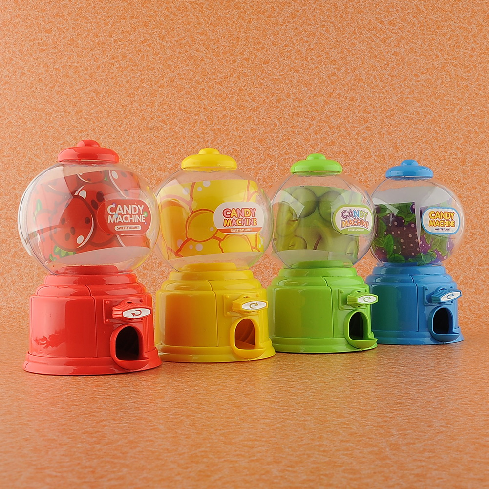 Lovely Green Mini Beauty Candy Machine Sweet Gumball Dispenser Vending Saving Bank Coin Kids Toy Gift(China (Mainland))
